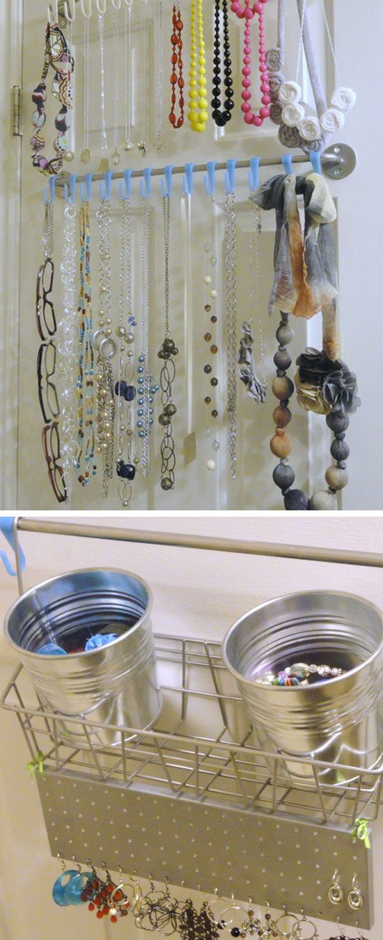 Back of Door Organizers   Click Pic for 25 DIY Small Apartment Decorating Ideas on a Budget   Organization Ideas for Small Spaces
