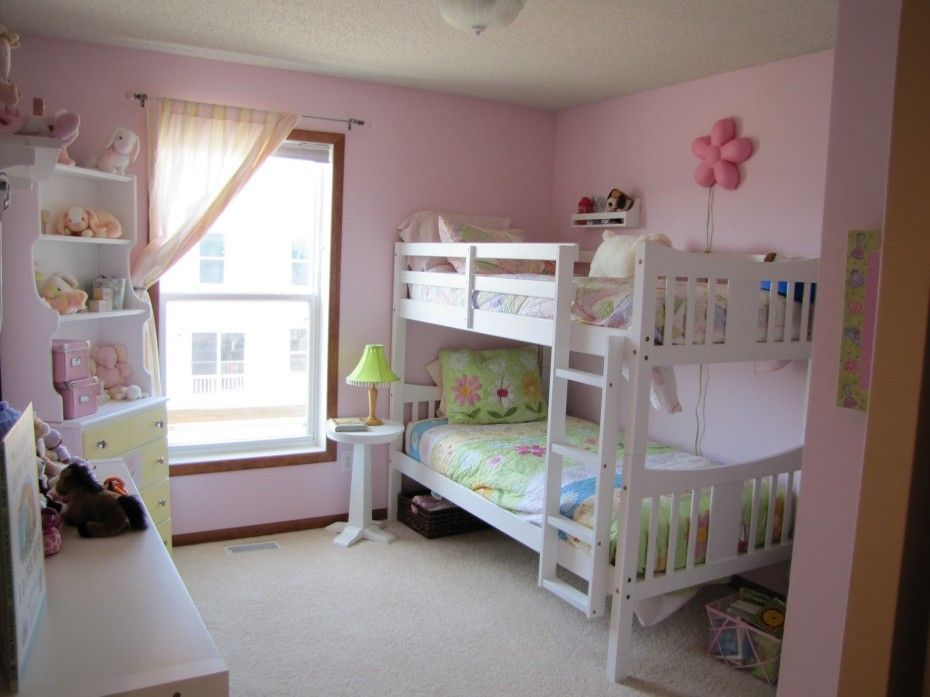 Bunk beds girls room design ideas white bunk beds girls for Bedroom ideas for a girl