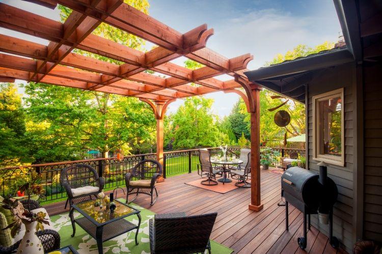 Holz Pergola im Garten - 17 moderne Beispiele Gartenhaus - holz pergola garten moderne beispiele