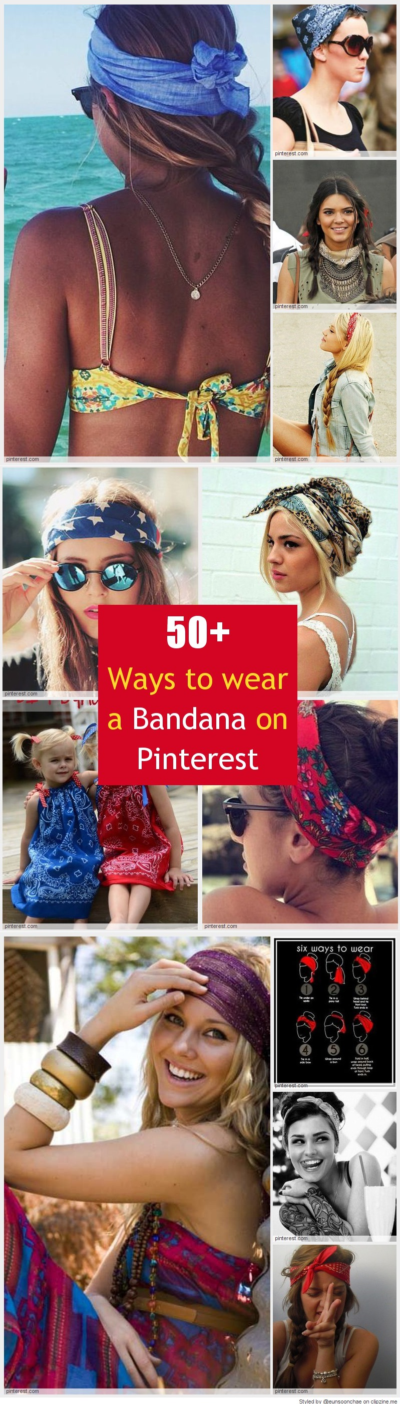 Cool ways to wear a bandana biker stuff pinterest bandanas