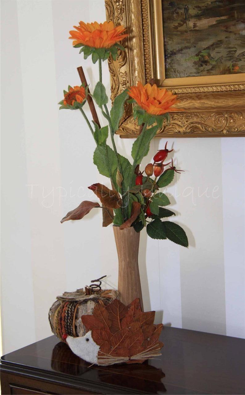 Autumn time artificial silk flower arrangement available