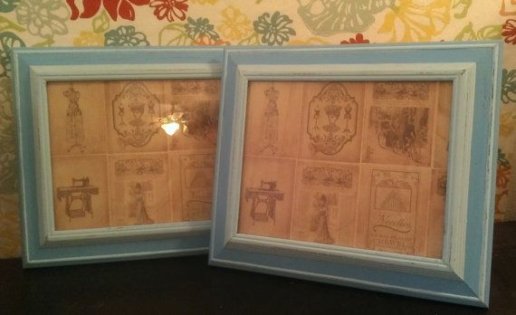 Shades of Teal Shabby Chic Vintage Picture by QuinnCoutureHome, $30.00
