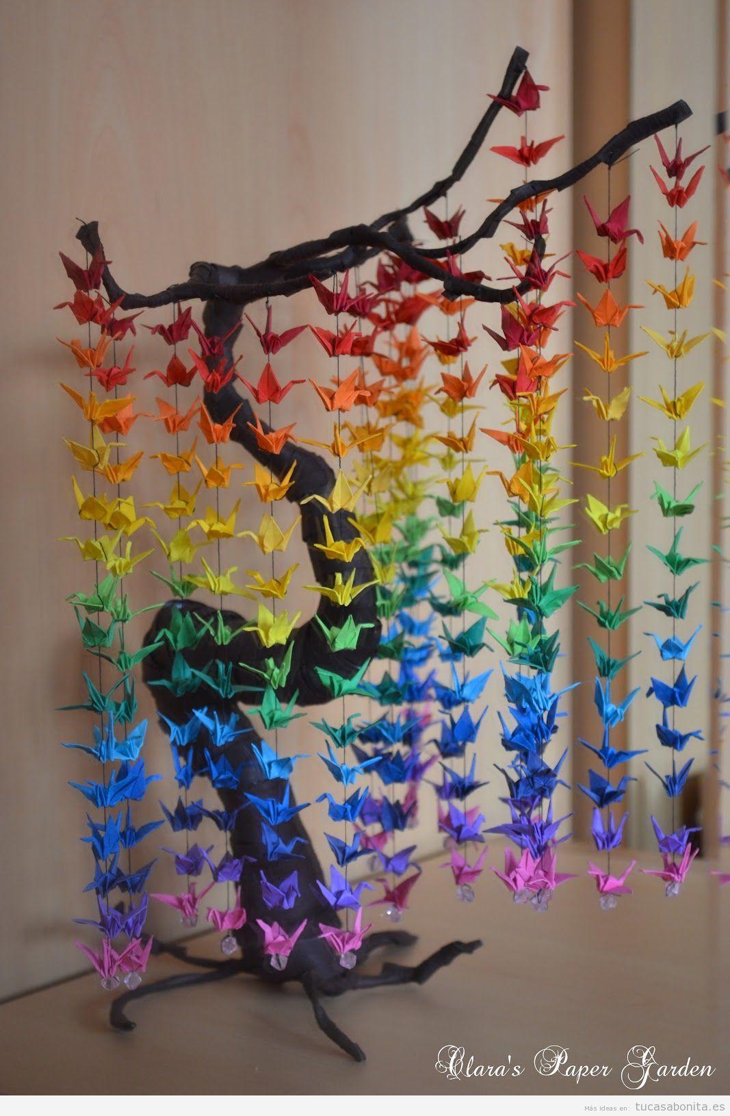 Moviles de papel diy para colgar y decorar tu casa 2 for Decoraciones para mi cuarto