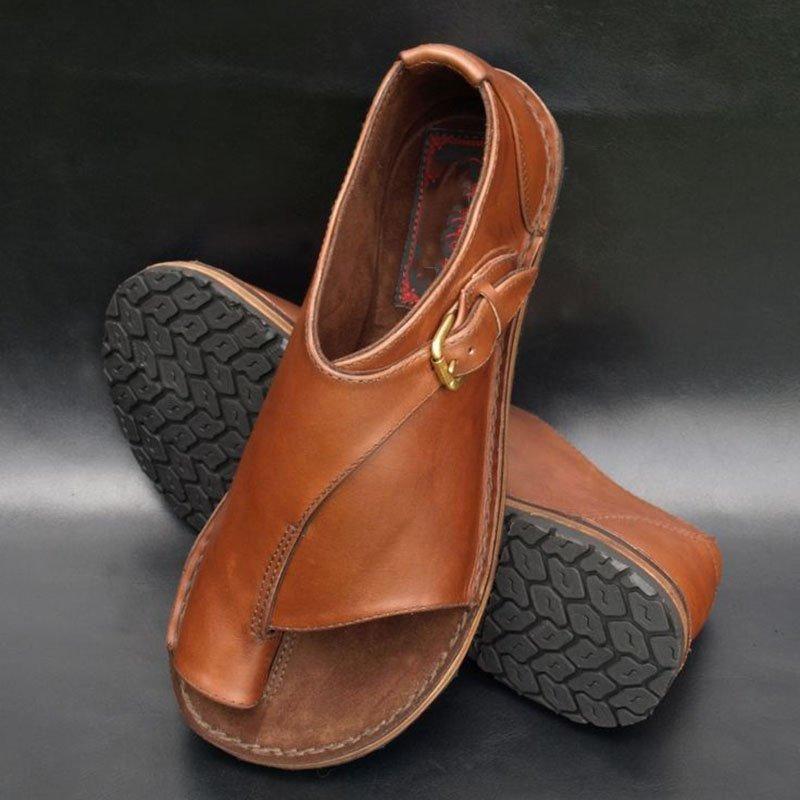 51d0227d5 Buckle Strap Flat Heel Sandals – RIKKISHOP