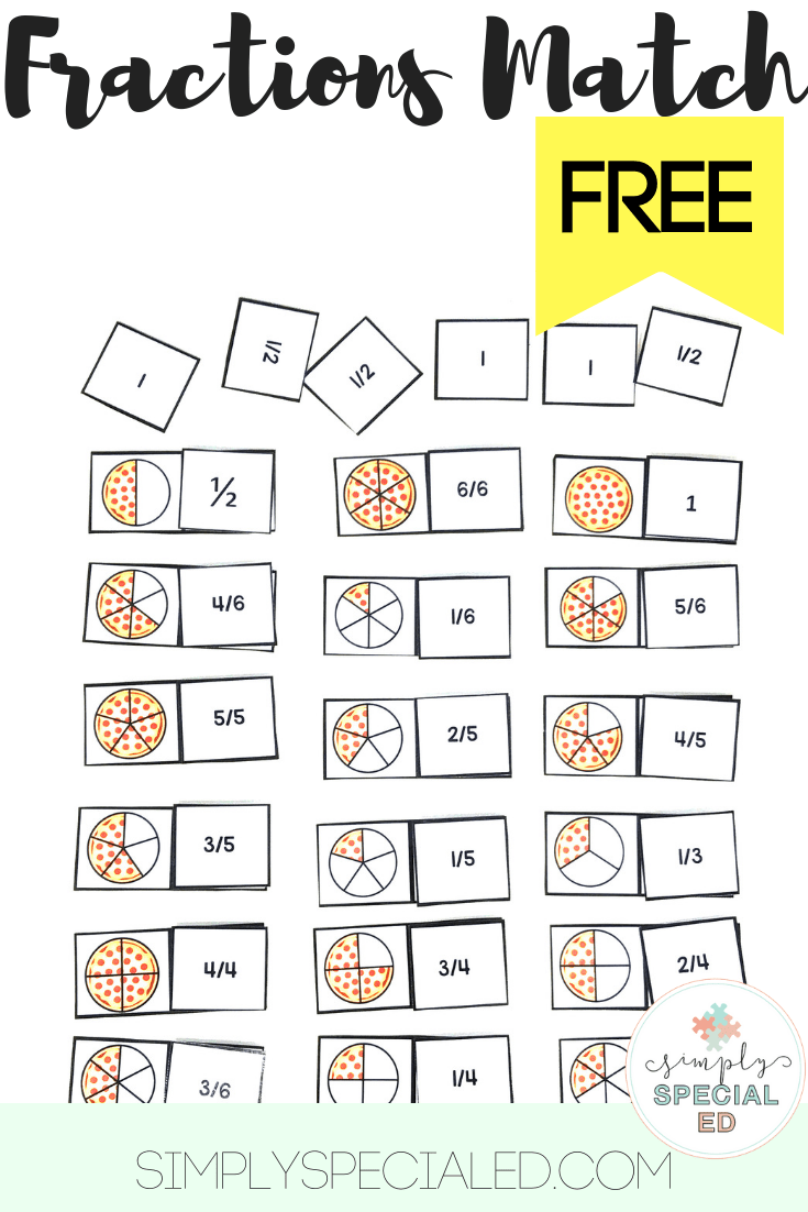 Free Pizza Fractions Simply Special Ed Special Education Math Pizza Fractions Fractions [ 1102 x 735 Pixel ]