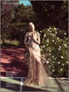 """Peach Blush"" for Vogue China March 2014  Photographer: Camilla Åkrans Stylist: Franck Benhamou  Model: Hana Jirickova"
