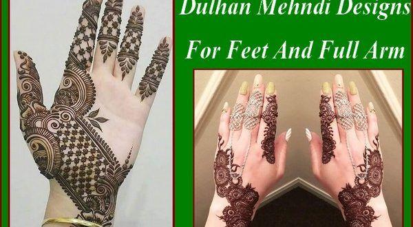 Full Arm Mehndi Designs : Dulhan mehndi designs for feet and full arm