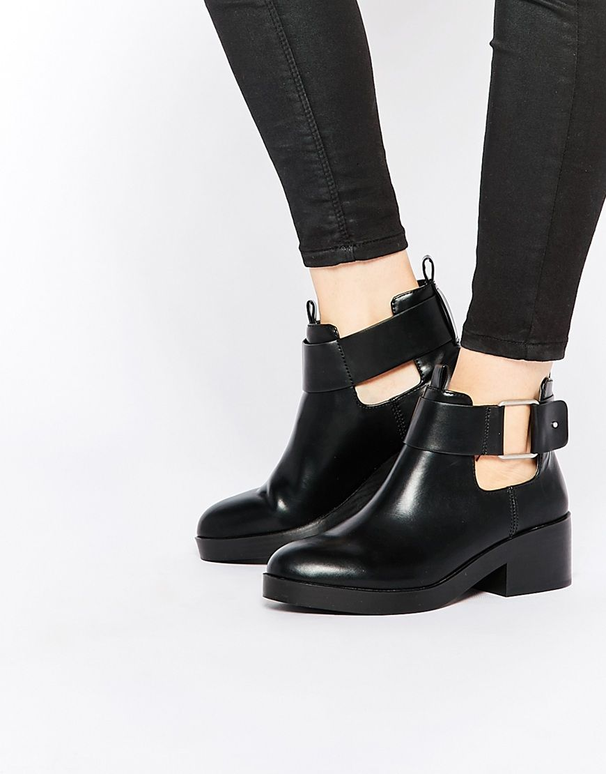 Image 1 of Pull&Bear Buckle Ankle Boot