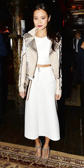Look of the Day - March 13, 2014 - Jamie Chung in Zara #InStyle