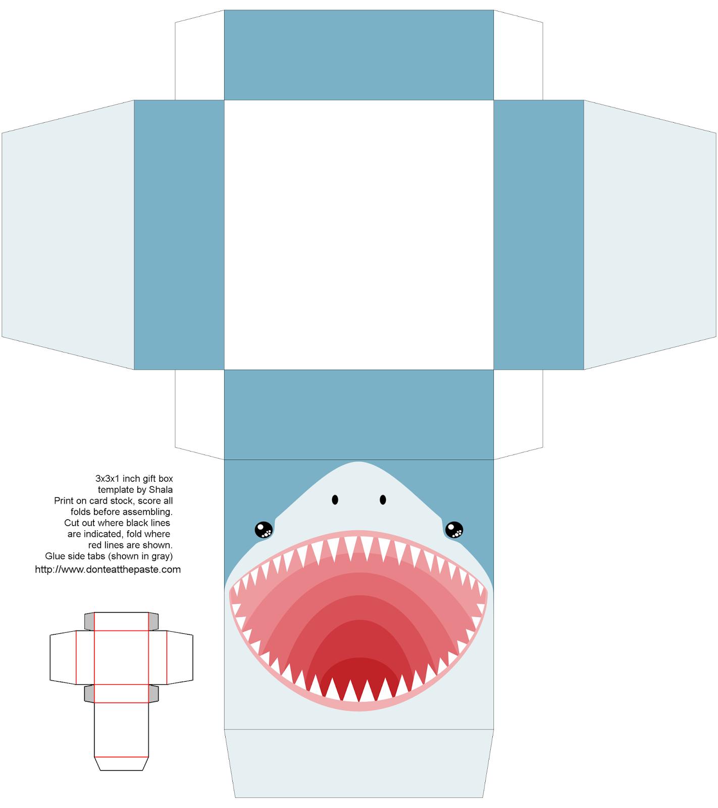 Printable Shark Box in 2018   Eye-catching Paper Craft & Paper Art ...