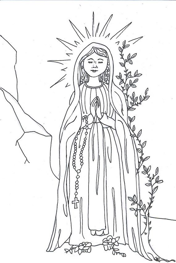 marys assumption coloring pages - photo#16