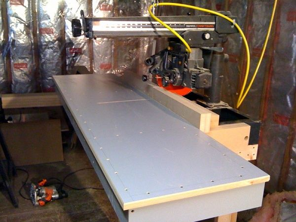 Radial Arm Saw Table Shop Ideas Radial Arm Saw Radial