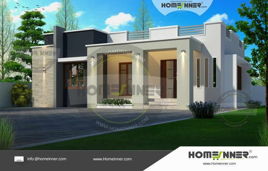 900 Sq Ft 2 Bedroom Simple House Elevation House Elevation Simple House Modern House Plans