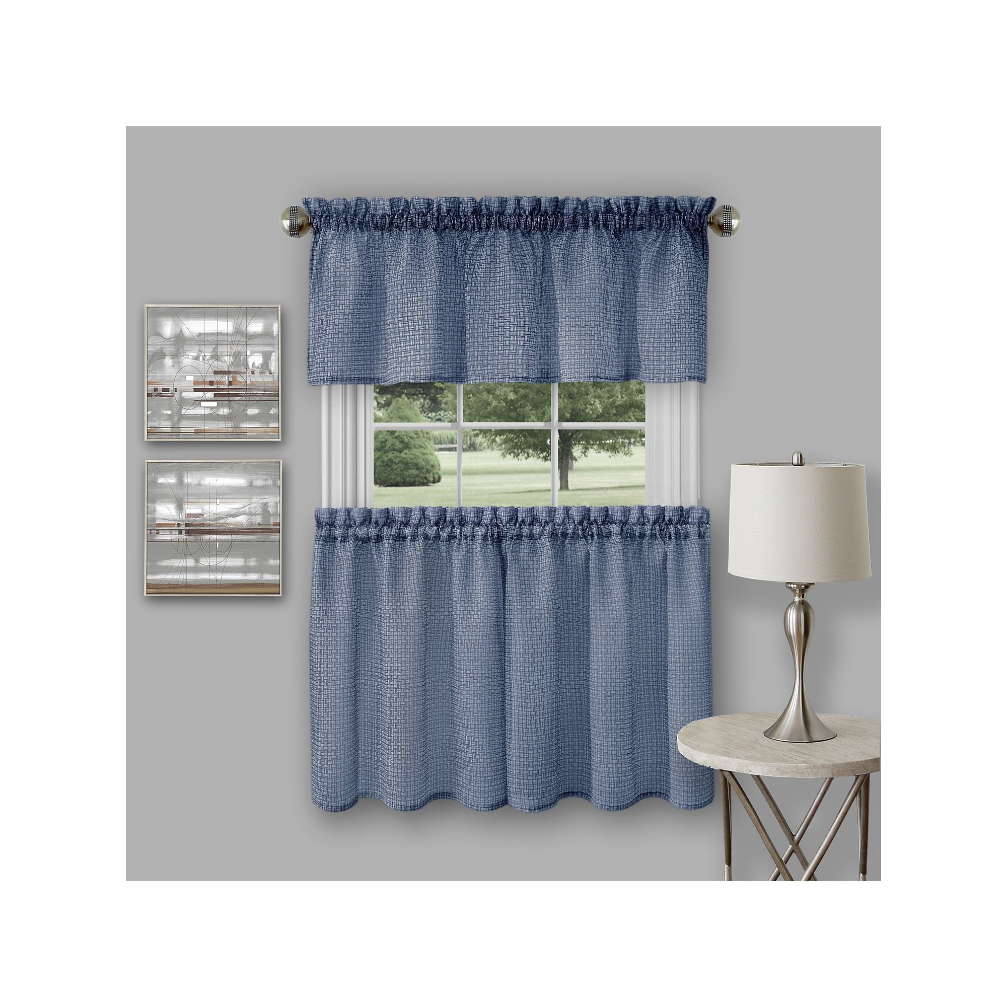Blue Green Kitchen Curtains: Richmond Window Kitchen Curtain Tier Pair And