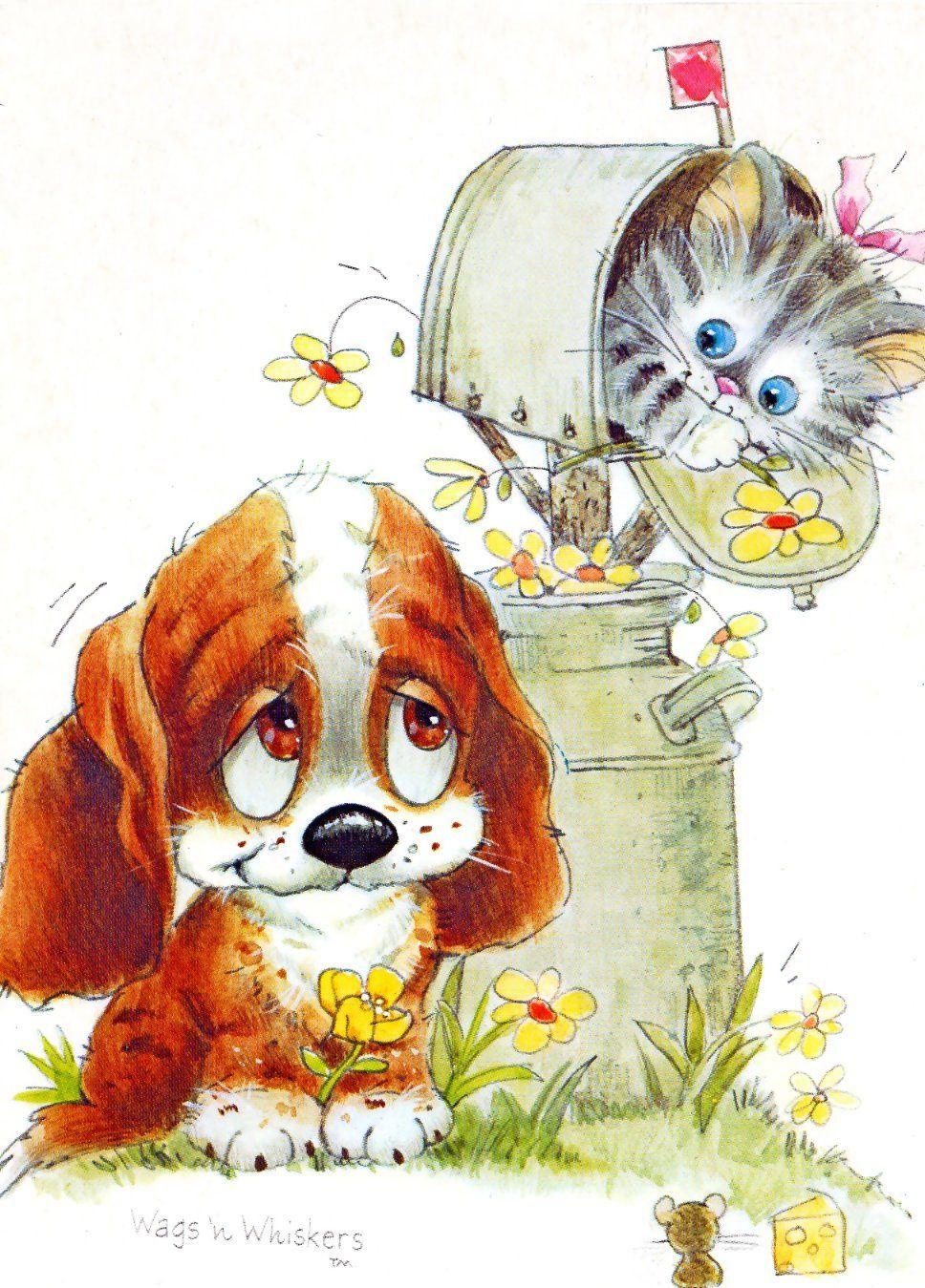 Perro Y Gato Ilusgreg Giordano Dibujos De Perros Dibujos