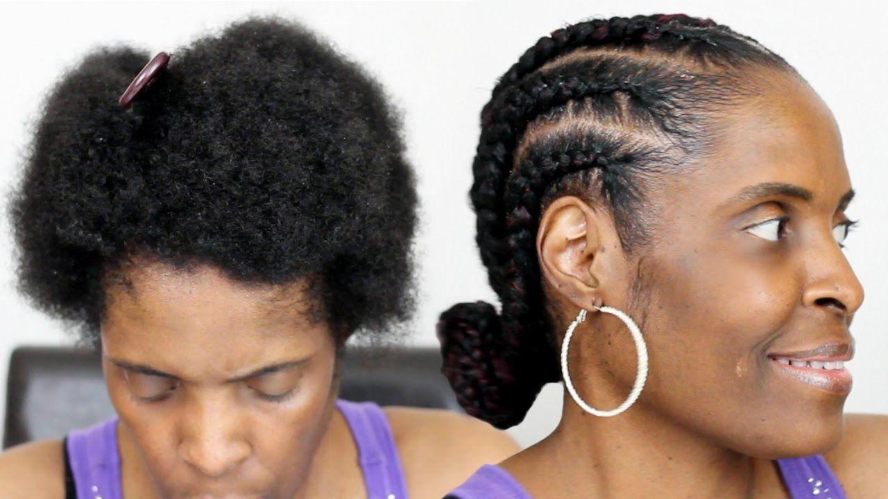 Feed In Braids On Short Natural Hair Jumbo Cornrows On Twa Natural Hair Styles Feed In Braid Cool Short Hairstyles