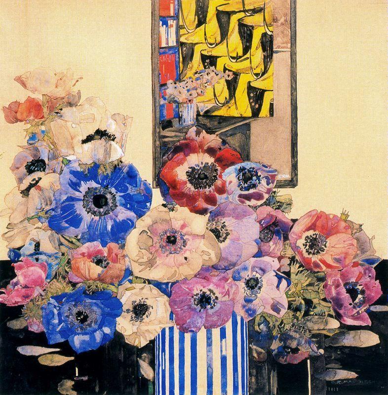 Чарльз Ренни Макинтош - один из блестящих стилистов эпохи арт-нуво. Известен более всего дизайном стула с высокой спинкой, носящим его имя. Стильные интерьеры, стилизованные рисунки цветов, которые использовались для витражей, когда на них смотришь - даже кажется, что их геометрия -…