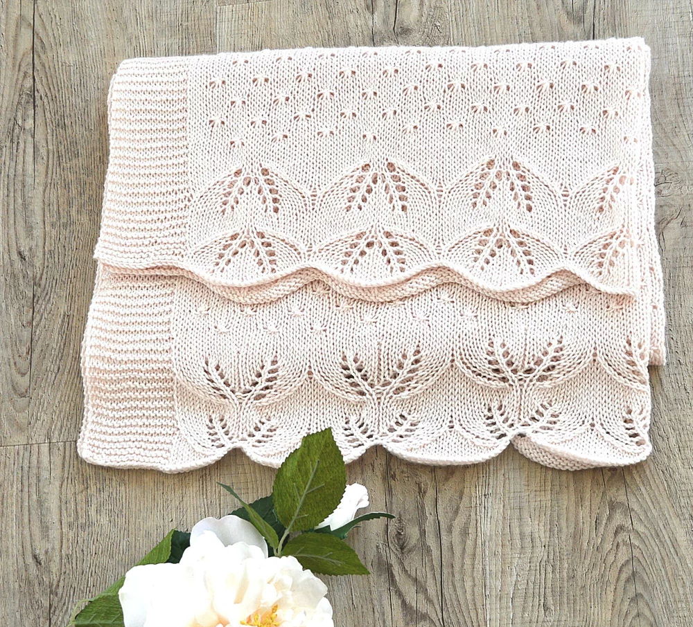 Butterfly Kisses Baby Blanket - P119 Knitting pattern by ...