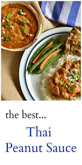 Thai Peanut Sauce or Give Me Some Sauce Tuesday Thai Peanut Sauce is perfect on everything, including a spoon! Made with coconut milk and peanut butter and a few extras, you will find yourself making this all the time!