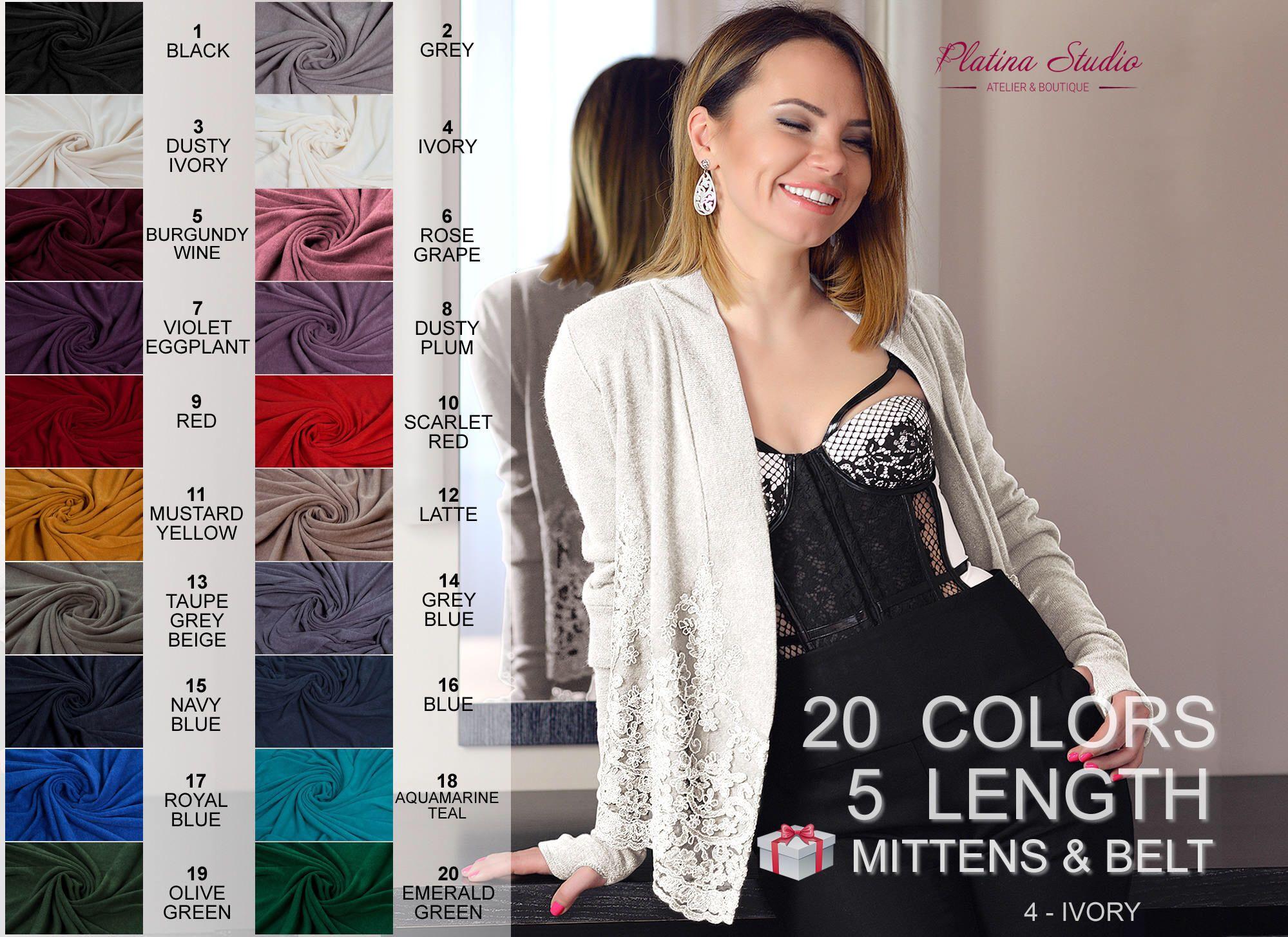 Women cardigan sweater Classic style Boho jacket Black pullover ...