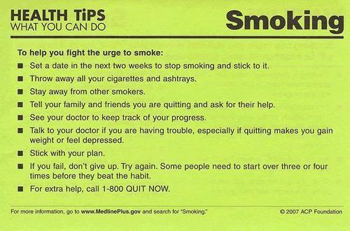Methods to quit smoking