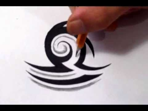 Libra Tattoos How To Draw A Simple Tribal Star Sign Youtube Libra Tattoo Zodiac Sign Tattoos Symbol Tattoos With Meaning