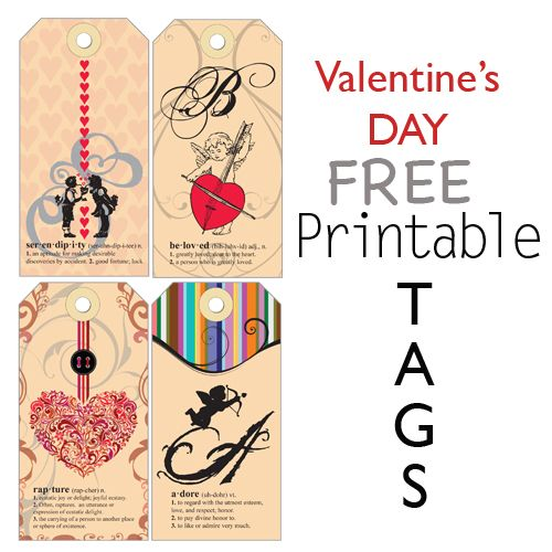 Cool valentines day themed gift tags to print printables cool valentines day themed gift tags to print negle Image collections