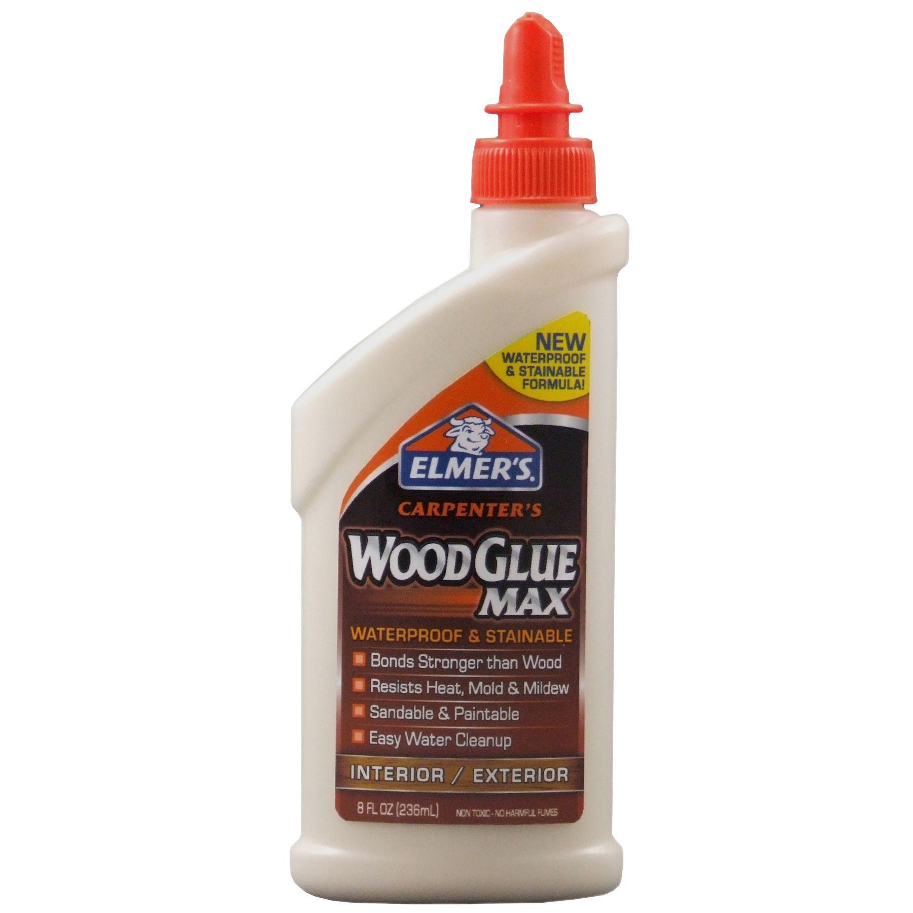 Elmer S 8 Oz Carpenter S Wood Glue Max Wood Glue Woodworkcabinets Wood Glue Wood Adhesive How To Waterproof Wood