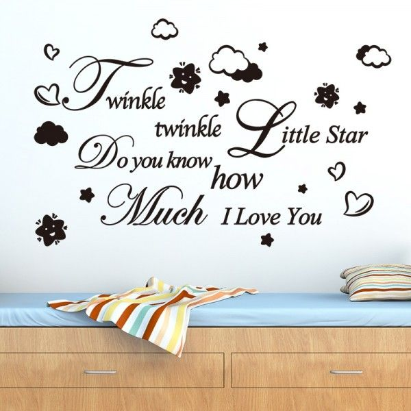 Kids Room Vinyl Art Mural Wall Sticker Little Stars Decal For Baby Girl DD