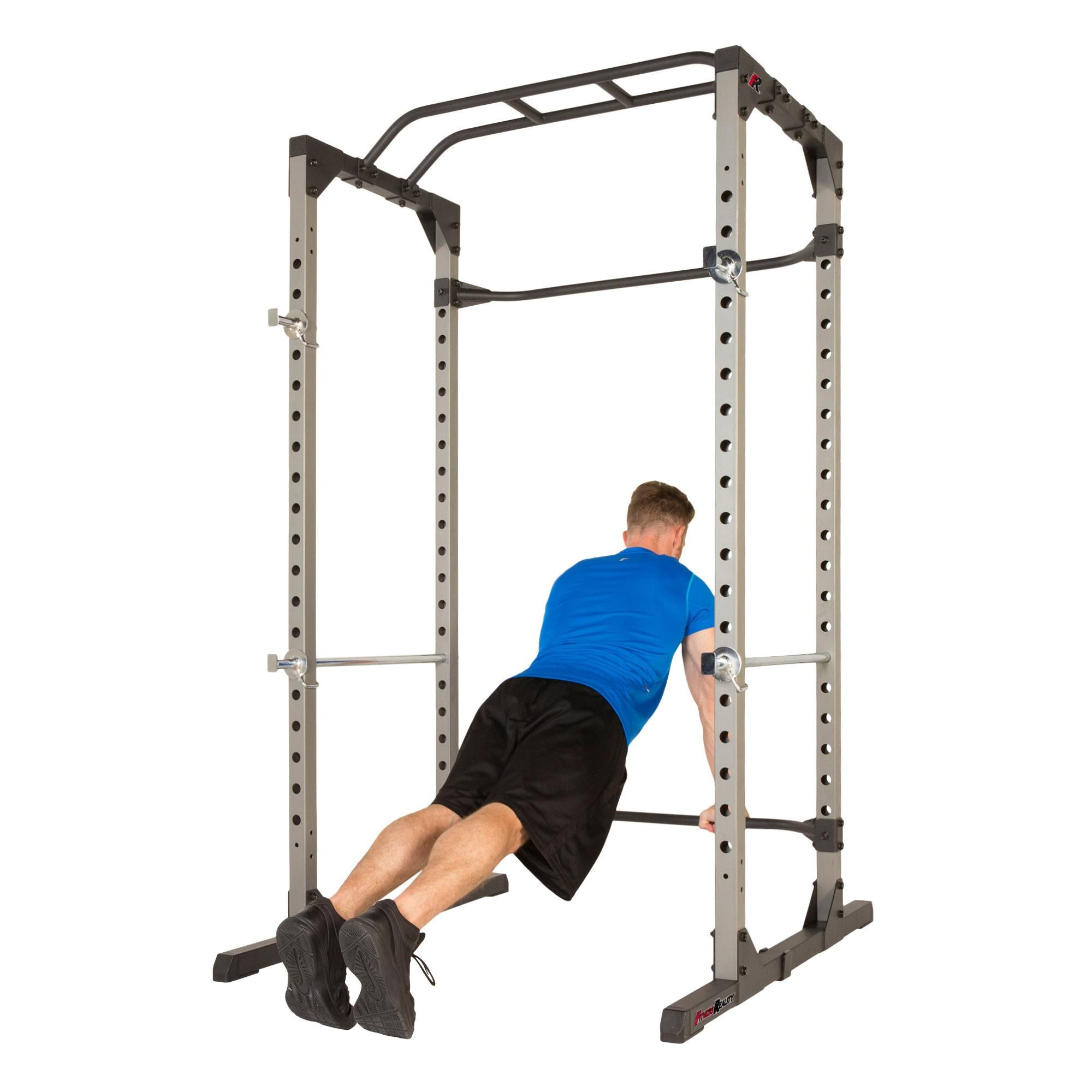 e121d25972 FITNESS REALITY 810XLT Super Max Power Cage with 800lbs Weight Capacity At Home  Gym