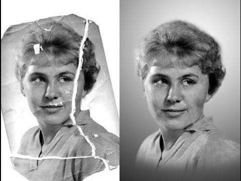 How To Restore A Damaged Photo With Photoshop Time Lapse Youtube Photoshop Projects Photoshop Photo
