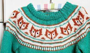 Strikkeopskrift: Sweater med ræve - ALT.dk #strikkeopskriftsweater Strikkeopskrift: Sweater med ræve - ALT.dk #strikkeopskriftsweater