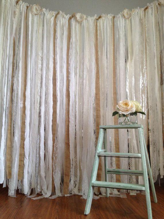 6 Ft Burlap And Lace Wedding Garland Backdrop Rustic Wedding Decor Floor Length Burlap And Wedding Garland Backdrop Rustic Wedding Decor Bridal Shower Rustic