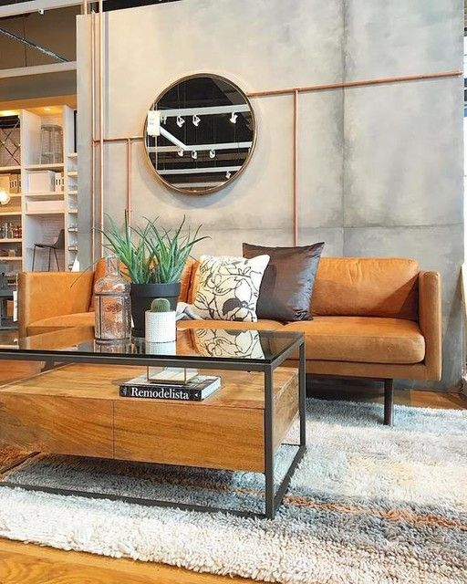 Box Frame Storage Coffee Table Industrial And Loft Living - West elm box frame storage coffee table