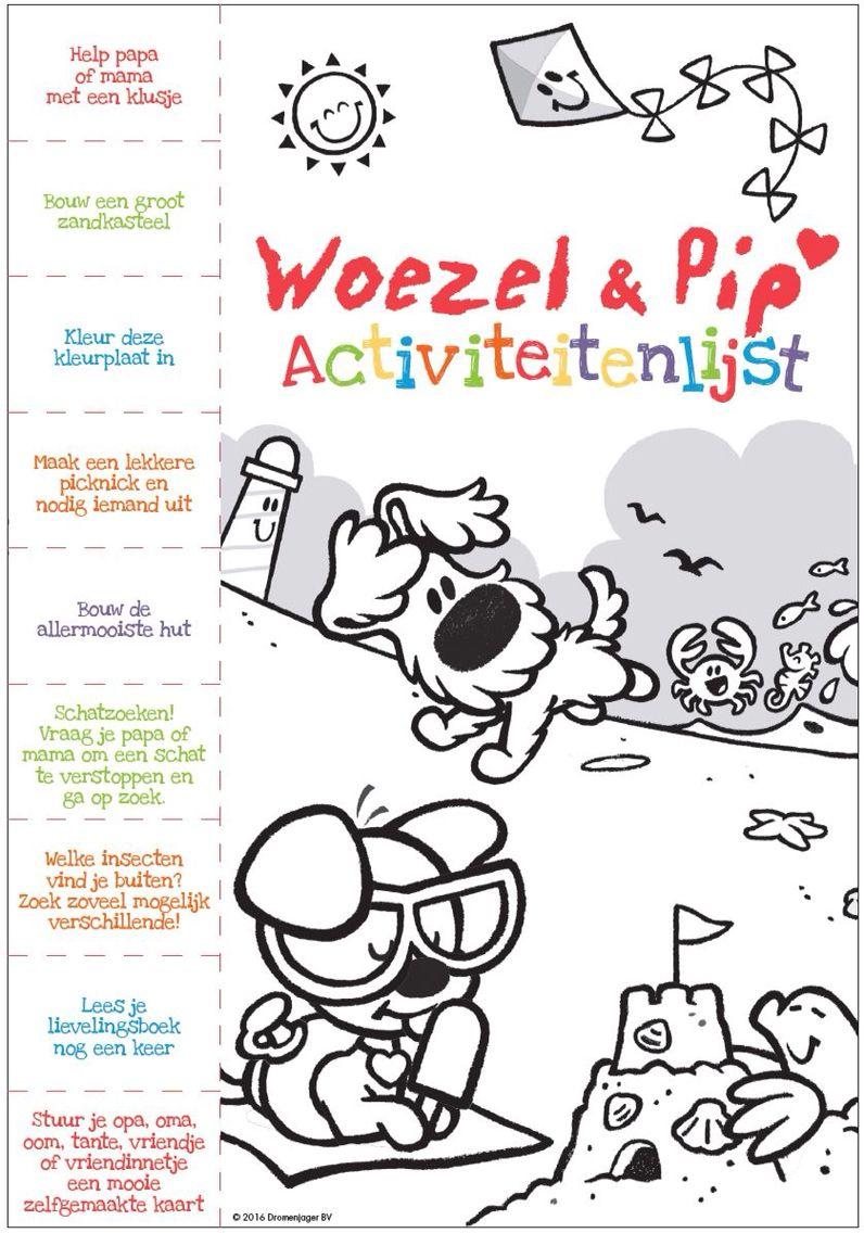 Woezel En Pip Activiteiten Lijst Voor Op Vakantie Wilde Bloemen Activiteiten Kleurplaten