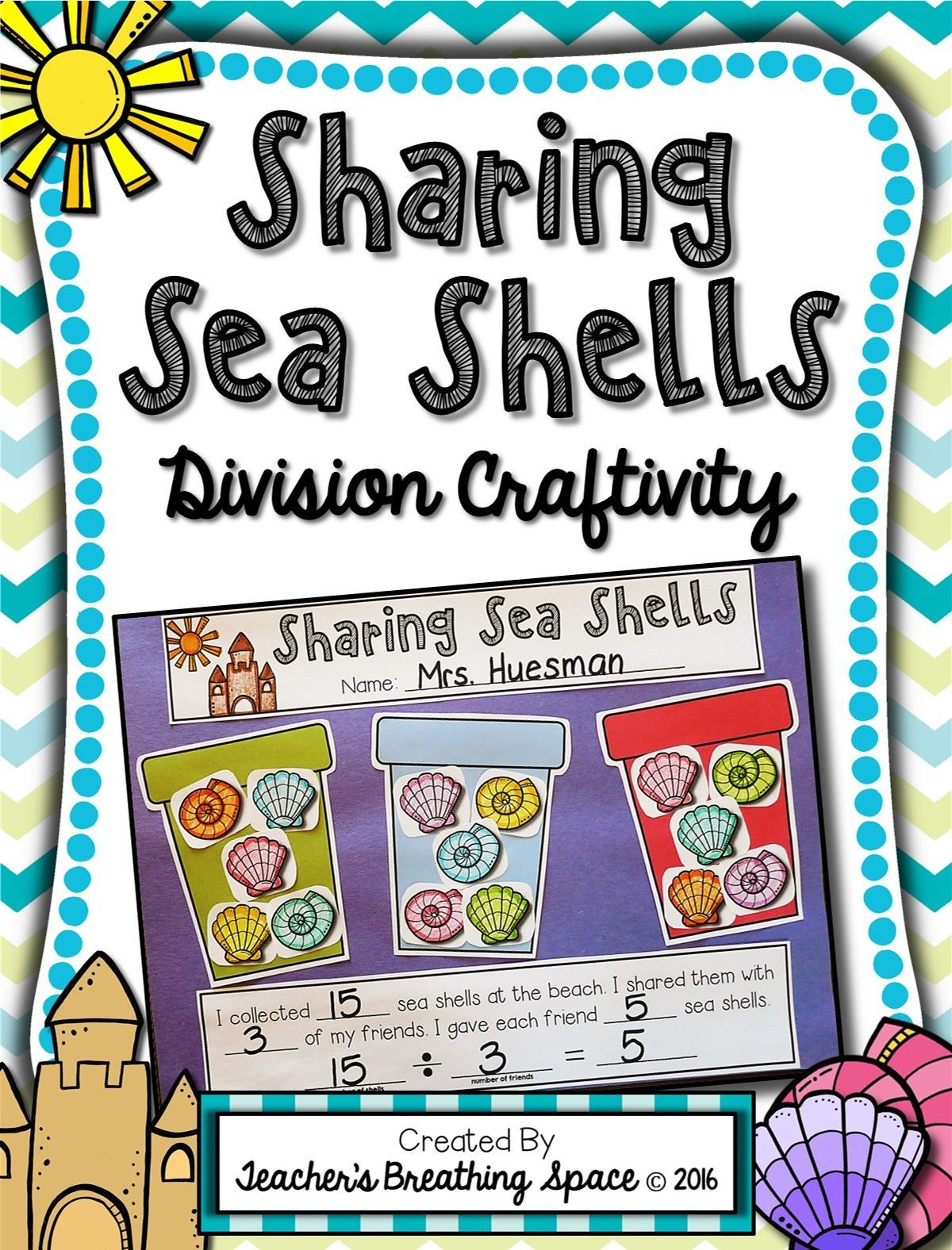 Beginning Division Craftivity Sharing Sea Shells