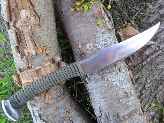 Hand Forged Railroad Spike KnifeHeat Patina by MainlineSteelWorks, $60.00