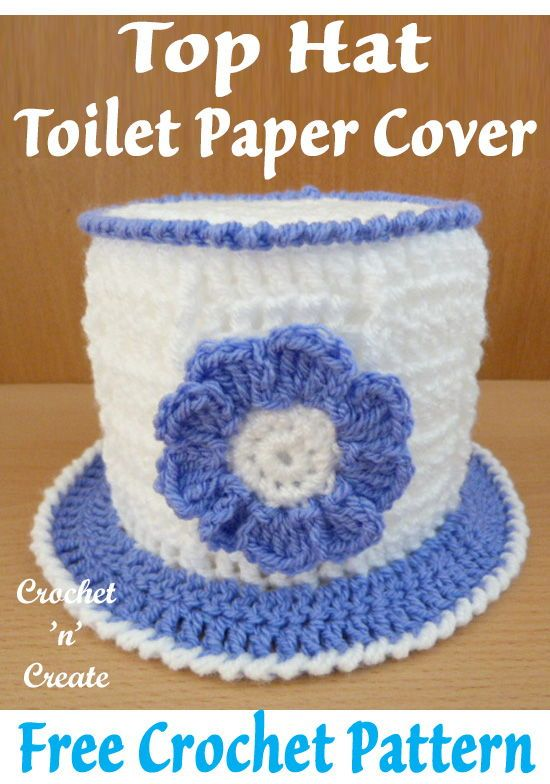 Top Hat Toilet Roll cover Free Crochet Pattern | CrochetHolic ...