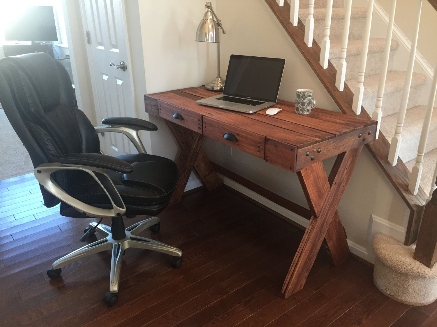 Pallet desk by ironcrafts on etsy pallet desk pinterest pallet
