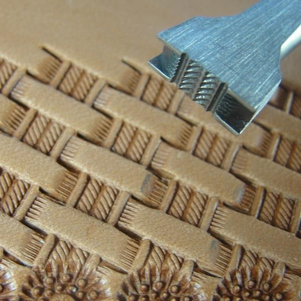 Basket Weave Pattern On Leather : Hackbarth stainless leather tool medium double rope