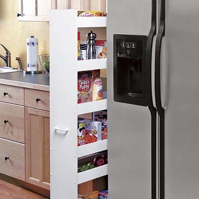 This 10 Inch Wide Rolling Caddy With Casters And An Easy Pull Handle Slides Right Into Dead Space The 6 Sh Kitchen Pantry Storage Pantry Storage Narrow Pantry