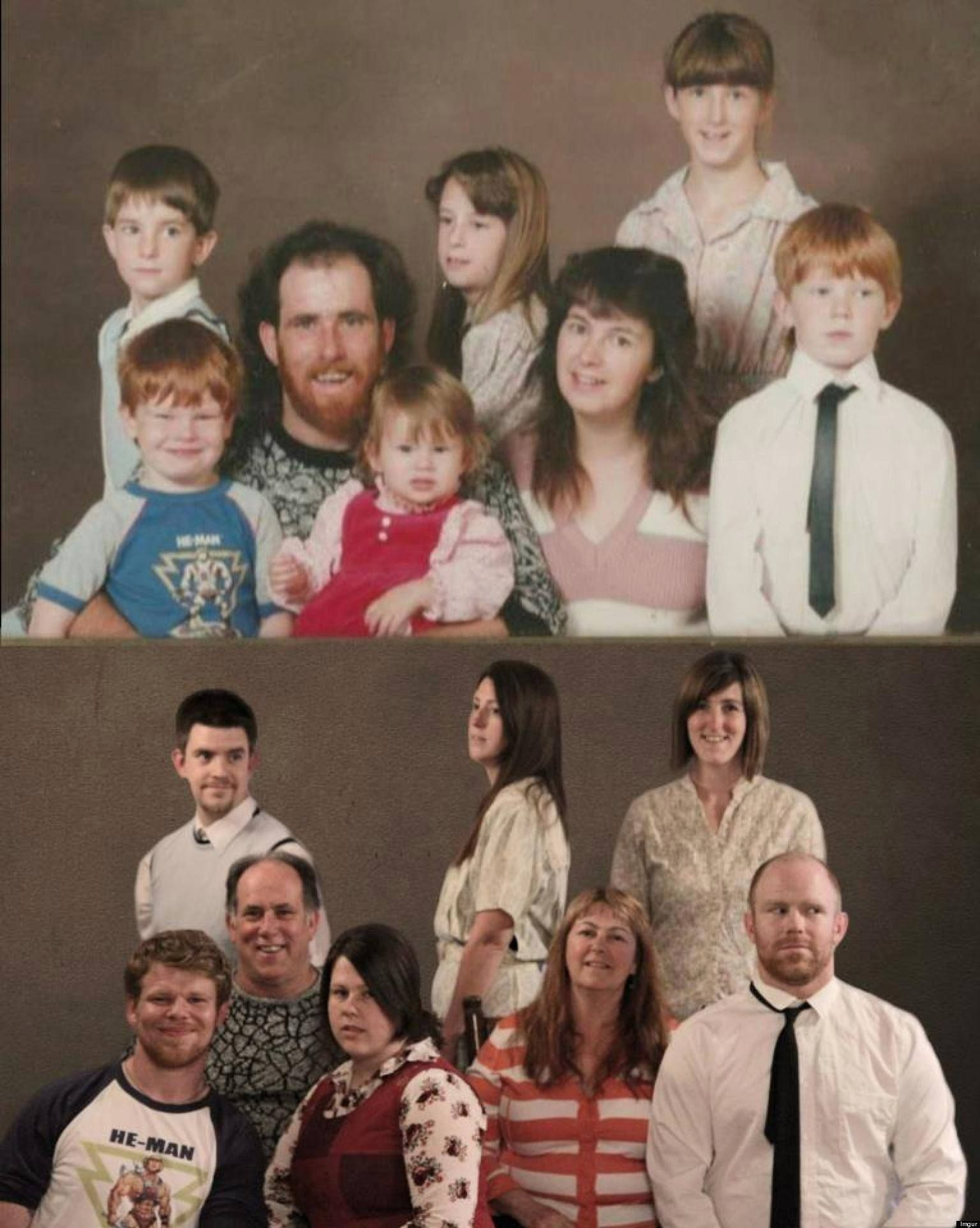 76 Touching Family Photo Recreations from Stylish Eve Fans