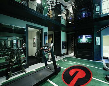 Attrayant Designing A Home Gym. Home Gym In Mirror. Cool Workout Fitness Home Gym  Designs In Basement Of Home. Gym Photos Design Pictures Remodel Decor And  Ideas Page ...