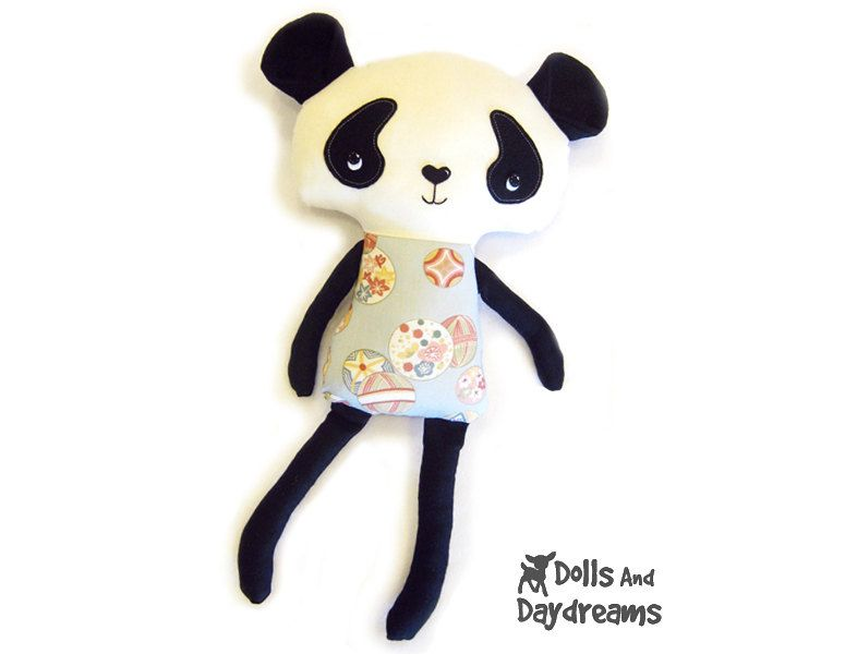 Panda Teddy Bear PDF Sewing Pattern Softie Stuffed Toy | Spielzeug ...