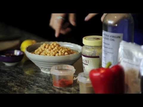Deliciously Ella - Roasted Red Pepper Hummus Nice little video