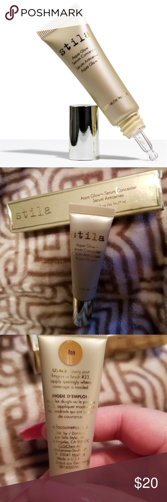 Stila Aqua Glow serum concealer Tan NWT Concealer for