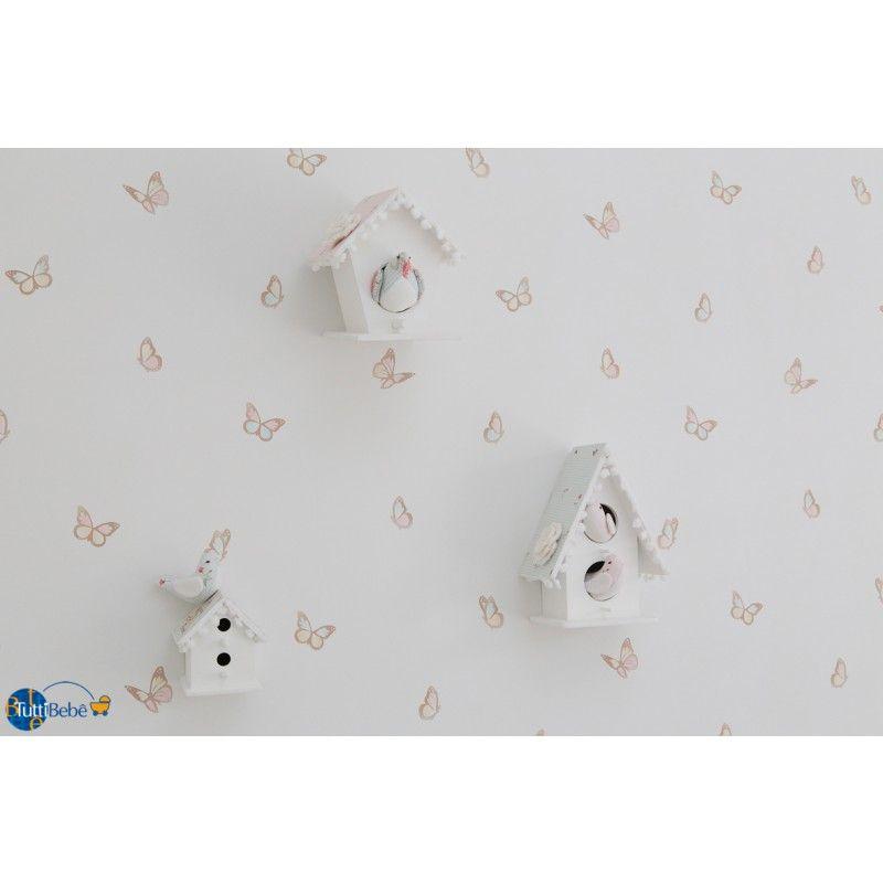 Papel parede infant rio borboletas quarto bebe - Papel pared bebe ...