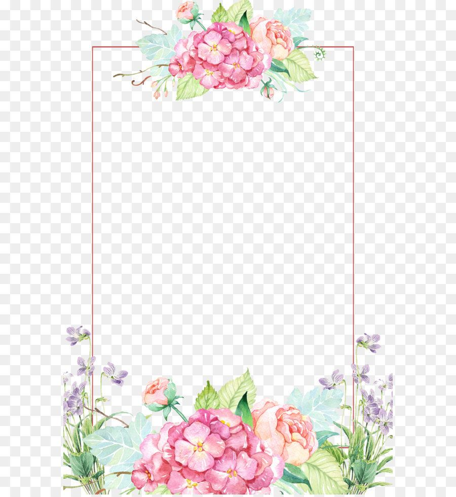 Flower Clip Art Beautiful Flower Borders Bingkai Foto Undangan Pernikahan Bunga Cantik