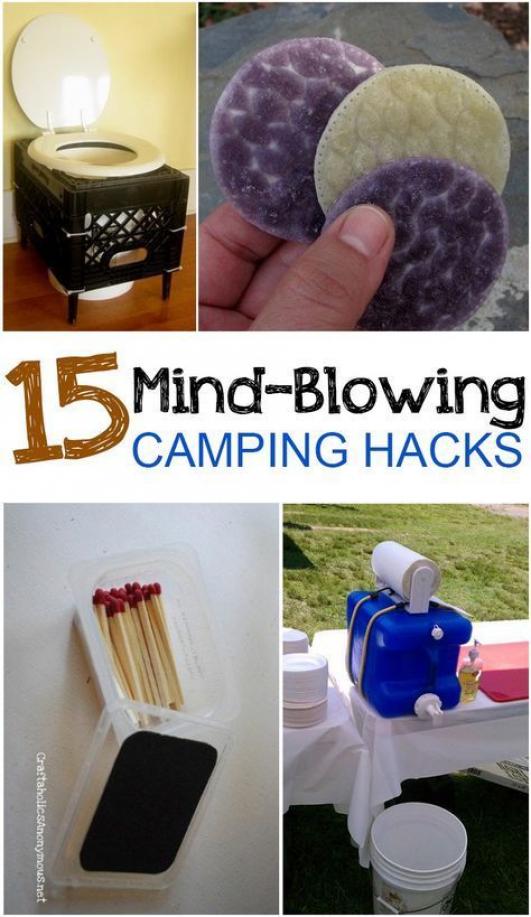 camping hacks tricks summer