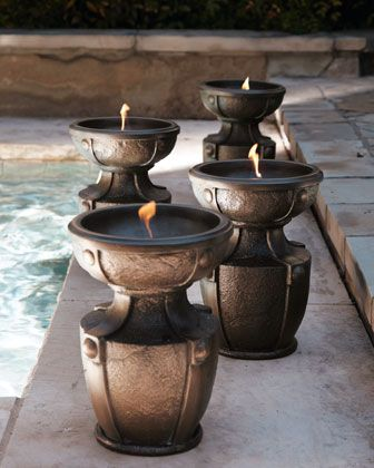 Fire+Urn+at+Horchow. | Things to buy | Pinterest | Jardín, Luces y Hogar